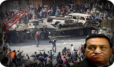 Os conflitos no Egito em 2011 causaram a renúncia do ditador Hosni Mubarak, que estava há 30 anos no poder.
