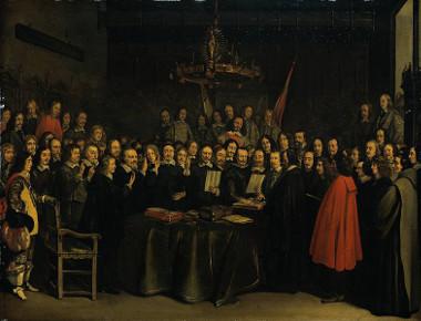 Reunião dos líderes participantes da Guerra dos Trinta Anos em Münster