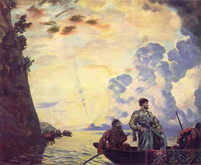 Obra Stepan Razin, feita em 1918 por Boris Kustodiev (1878-1927)