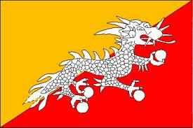 Bandeira do Reino  do Butão.