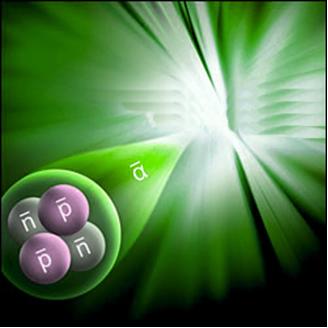 A radiação alfa é composta de dois nêutrons e dois prótons