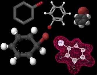 O nome usual do bromobenzeno (figura) é brometo de fenila.