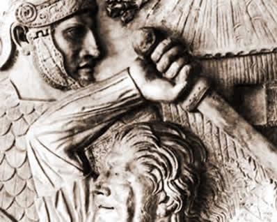 A luta entre os bárbaros e os romanos assinalou um dos vários aspectos da crise imperial.