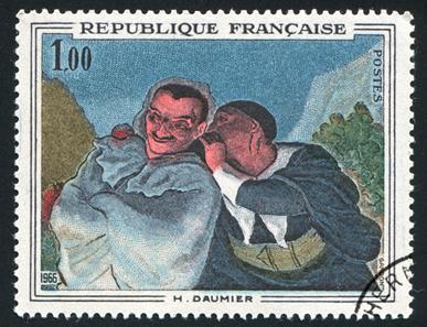 Ilustração de Honoré Daumier – chargista francês internado em hospício por ordens do rei Luís Felipe devido a uma charge que o ridicularizava.*