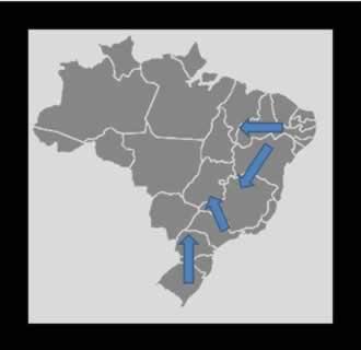 A migração interna no Brasil, por exemplo, foi muito intensa
