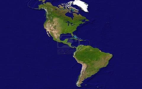 Ela é dividida em: América do Norte, América Central e América do Sul