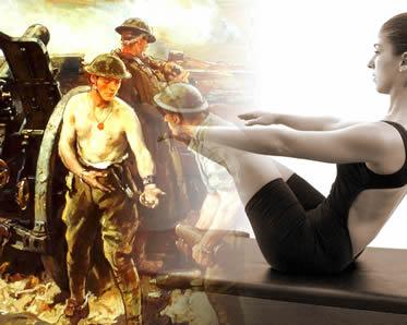 Em meio à destruição da I Guerra Mundial, uma nova técnica de exercício foi criada.
