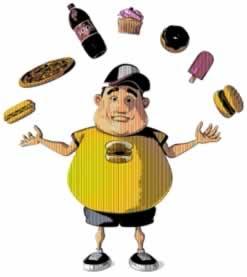 O consumo de alimentos com açúcares e gorduras são os responsáveis pela obesidade