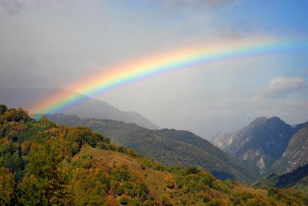 Arco-íris é um fenômeno óptico