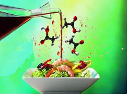 O ácido acético ou ácido etanoico é o principal constituinte do vinagre