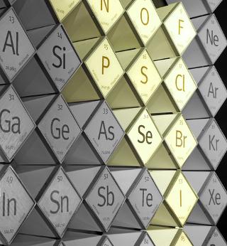 Em destaque amarelo, são mostrados os ametais na ordem em que eles aparecem na Tabela Periódica