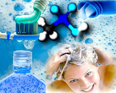 Os detergentes ou espumantes que agem como tensoativos em detergentes sintéticos, xampus e cremes dentais são sais de ácidos sulfônicos