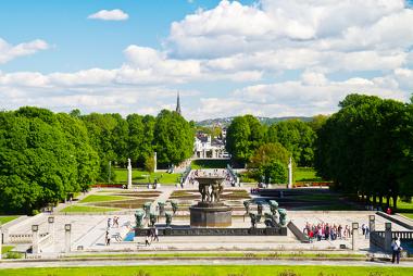 Vista da cidade de Oslo, Noruega. Esse país possui o melhor IDH do planeta
