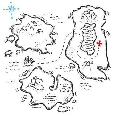 Brincar de mapa do tesouro pode ser uma boa ideia para atrair os alunos sobre a importância da cartografia