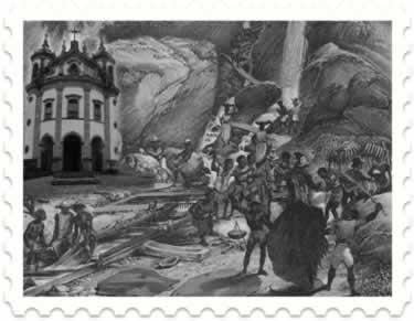 O trabalho escravo nas minas de ouro (séculos XVII – XVIII)