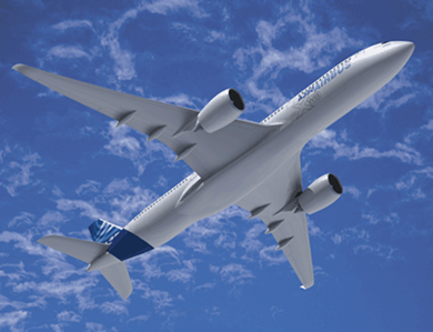 A força que impulsiona um avião é a reação à força do jato de ar expelido pela turbina