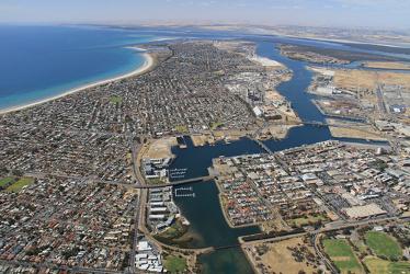 Foto aérea do Sul da Austrália