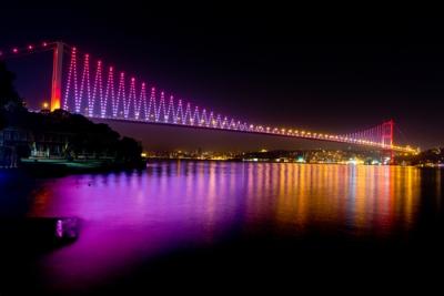 A Ponte de Bósforo, construída na década de 1970