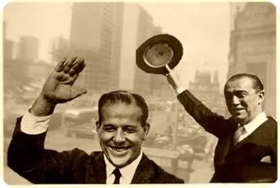 João Goulart e Juscelino Kubistchek: eleições de 1955