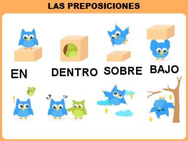 Todas as preposições existentes no espanhol são de origem latina
