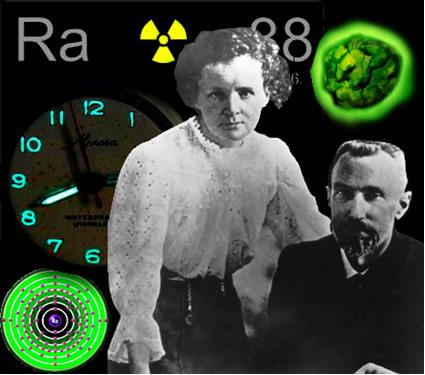 O rádio foi descoberto pelo casal Curie