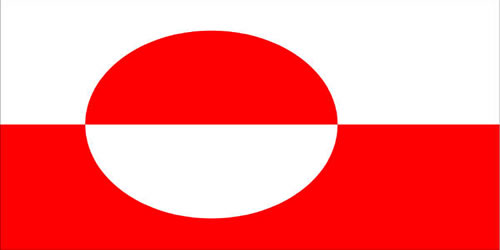 Bandeira da Groelândia.
