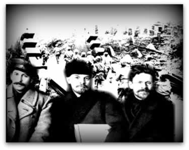 Com a ascensão da Revolução de outubro de 1917, a Rússia foi retirada da Primeira Guerra Mundial pelos líderes socialistas