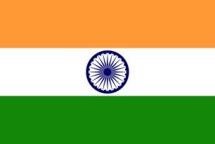 Bandeira da República da Índia.