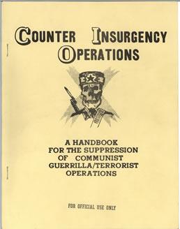 Imagem de manual de contra insurgência, retirado do site da Biblioteca JFK. Orientações eram usadas contra as guerrilhas, como as criadas por Lamarca*