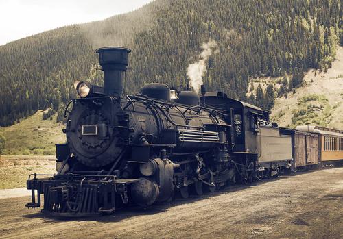 Locomotiva: máquina térmica usada como meio de transporte