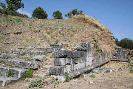 Ruínas de Esparta, uma das mais importantes cidades gregas do período clássico