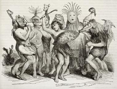 Dança teatral de índios brasileiros