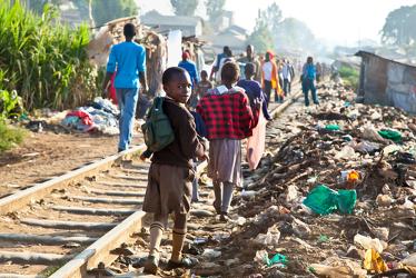 Crianças em Nairóbi, capital do Quênia*