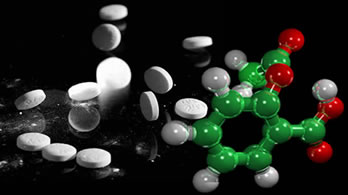 O medicamento antérmico ácido acetilsalicilico é derivado do anidrido acético.