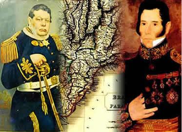 David Canabarro e Bento Gonçalves: dois importantes líderes da Guerra dos Farrapos.