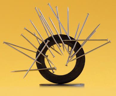 O ímã é um objeto que gera campo magnético ao seu redor, podendo interagir com outras partículas e originar a força magnética