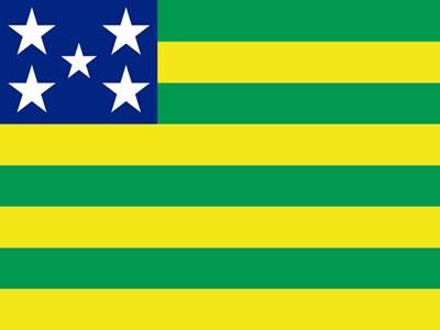 A bandeira do Estado de Goiás