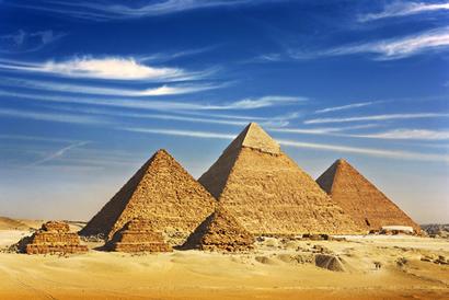 Imagem das Pirâmides de Gizé