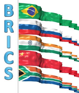 Os países que formam o grupo dos BRICS são: Brasil, Rússia, Índia, China e África do Sul