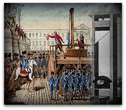 A partir do ano de 1792, durante a Revolução Francesa, as pessoas condenadas à morte passaram a ser executadas na guilhotina