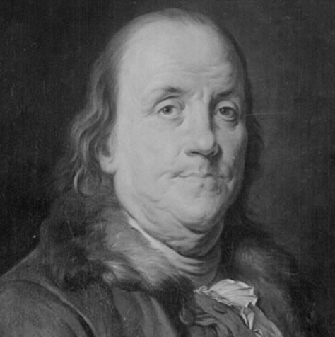 Benjamin Franklin, um dos delegados da convenção que elaborou a constituição americana