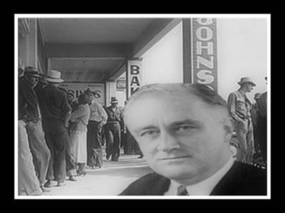 Da crise de 1929 à criação da política do New Deal.