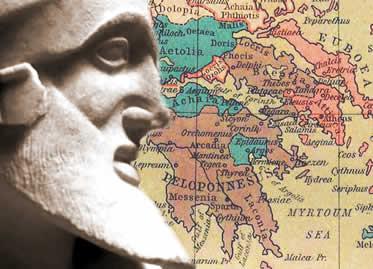 A Guerra do Peloponeso desgastou a grande maioria das cidades-Estado da Grécia Antiga.