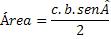 Fórmula da área em relação aos lados e o seno