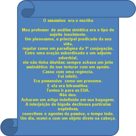 Poema de Paulo Leminski que aborda questões voltadas para os elementos sintáticos