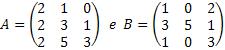 Exemplo de matrizes