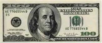 Nota americana de cem dólares