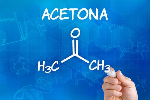 A acetona pode ser obtida a partir de reações de hidratação em alcadienos