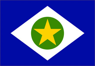A bandeira do Estado de Mato Grosso