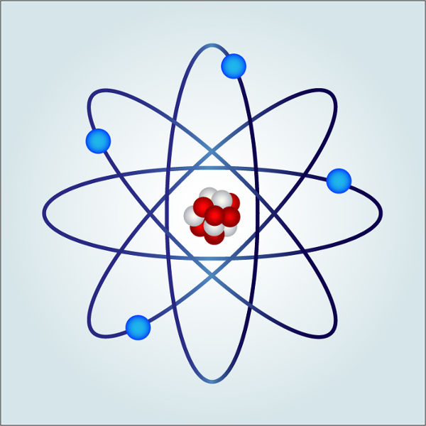 A carga elétrica deve-se à existência dos prótons e elétrons nos átomos